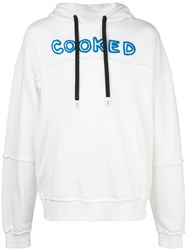 Haculla Cooked Printed Hoodie White