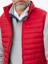 Joules Go To Lightweight Gilet Red