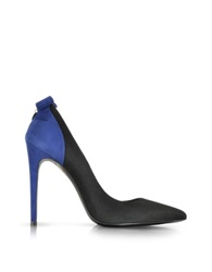 Loriblu Pointed Black And Blue Suede Pump