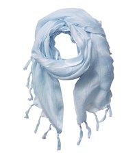 Love Quotes Linen Tassel Scarf Waterfall Scarves Navy
