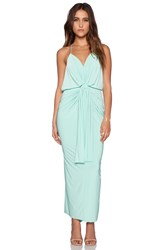 T Bags Losangeles Domino Tie Front Maxi Dress Mint