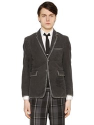 Thom Browne Distressed Cotton Fustian Jacket