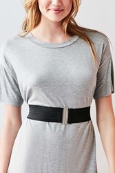 Urban Outfitters Wide Elastic Belt Black