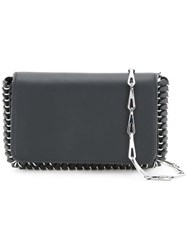Paco Rabanne Studded Trim Shoulder Bag Women Calf Leather One Size Black