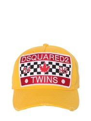 Dsquared Twins Patch Canvas Baseball Cap