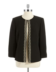 Tahari Arthur S. Levine Jeweled Blazer Black