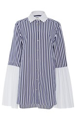 Monographie Pleated Long Sleeve Shirt Stripe