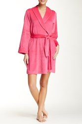 Casual Moments Shawl Collar Velour Wrap Pink