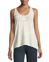 Minnie Rose La Playa Racerback Tank White