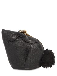 Loewe Leather Bunny Pouch Key Holder Black