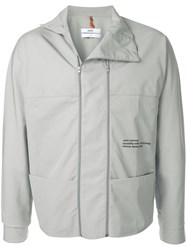 Oamc Logo Rain Jacket Grey