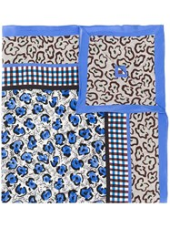 Christian Wijnants Amiki Patchwork Scarf Blue