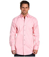 Ariat Solid Twill Shirt Pink Men's Long Sleeve Button Up