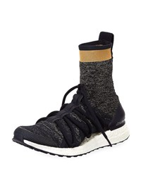 Adidas By Stella Mccartney Ultraboost Tall Lace Up Sock Sneaker Dark Blue
