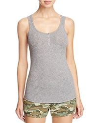 Pj Salvage Ribbed Henley Tank Heather Gray