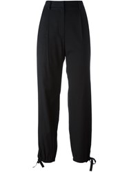 Maison Martin Margiela Mm6 Elastic Hem Straight Trousers Black