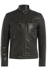 Blauer Leather Jacket Black