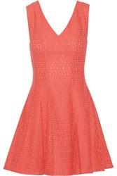 Rebecca Minkoff Auriga Crocheted Cotton Blend Mini Dress Orange
