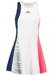 Adidas Performance 2In1 Sports Dress Collegiate Navy White Flash Red Blue