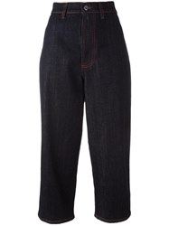 Marni Cropped Denim Trousers Blue