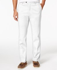 Tasso Elba Men's Regular Fit Pants White