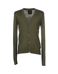 Red Soul Cardigans Military Green