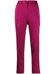 Etro Jacquard Trousers Pink