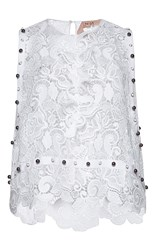 N 21 No. Assunta Sleeveless Lace Top White