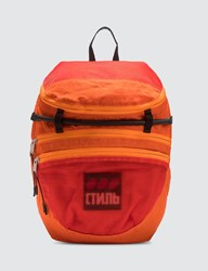 Heron Preston Foldable Backpack Orange