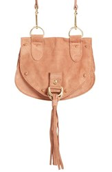 See By Chloe 'Small Collins' Leather And Suede Messenger Bag Brown Terracotta