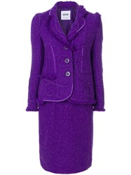 Moschino Vintage Two Piece Suit Pink And Purple