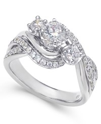 Macy's Diamond Engagement Ring 1 Ct. T.W. In 14K White Or Yellow Gold White Gold