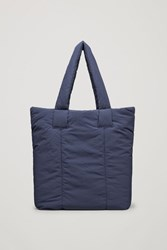 Cos Padded Tote Bag Navy