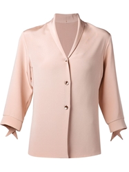 Peter Cohen Three Quarter Length Sleeve Blazer Nude And Neutrals