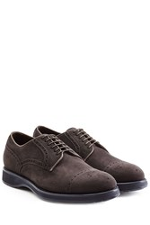 Brioni Suede Brogues Brown