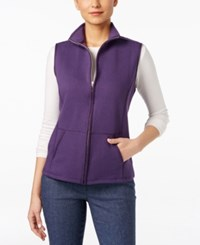 Karen Scott Quilted Zip Front Vest Only At Macy's Cassis