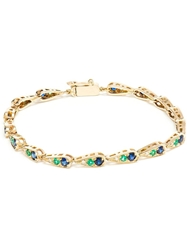 Sabine G 18Kt White Gold Emerald And Sapphire Bracelet Blue