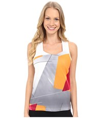 Spyder Even Tank Top Multi Color Shield Print Women's Sleeveless Yellow