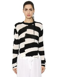 Ann Demeulemeester Striped Cotton Knit Sweater