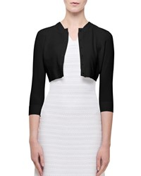 Alaia Viscose Crepe Shrug Cardigan Black