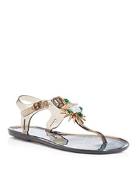 Ivy Kirzhner Jezabelle Jeweled T Strap Jelly Sandals Clear