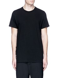D.Gnak Lace Up Side T Shirt Black