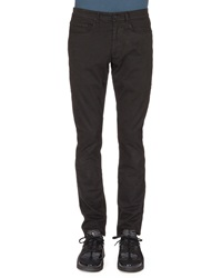 Kenzo Brushed Cotton Chino Pants Black