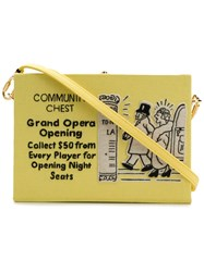 Olympia Le Tan Community Chest Crossbody Bag Yellow