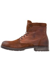 Jack And Jones Jfwhanibal Laceup Boots Brown Stone