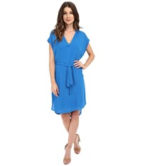 Lanston Sleeveless Shirtdress Cerulean Women's Sleeveless Blue