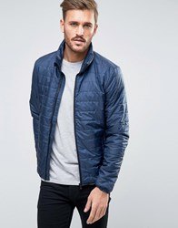 Only And Sons Lightweight Quilted Jacket Blue