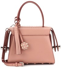Tod's Twist Mini Leather Shoulder Bag Neutrals