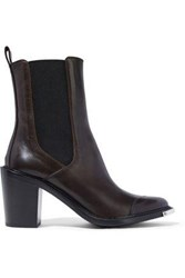 Belstaff Aviland Leather Ankle Boots Chocolate