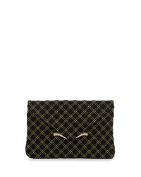Elaine Turner Designs Elaine Turner Bella Quilted Envelope Clutch Bag Black